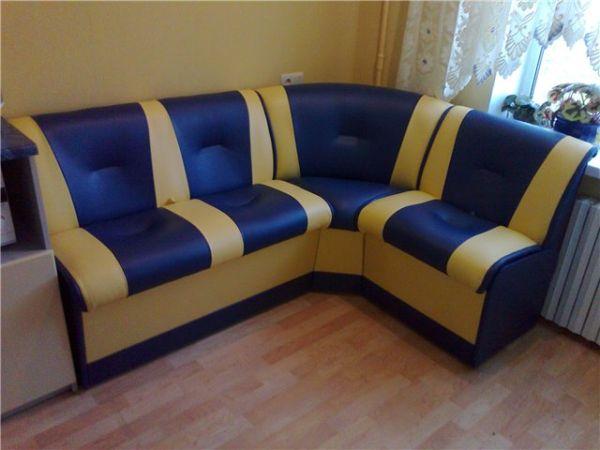 Обивка кухонного углового дивана