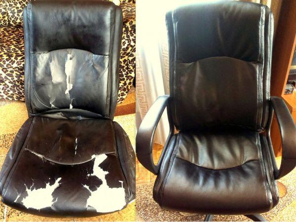 Офисное кресло после обшивки