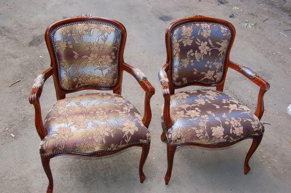 Фото стульев после перетяжки тканью